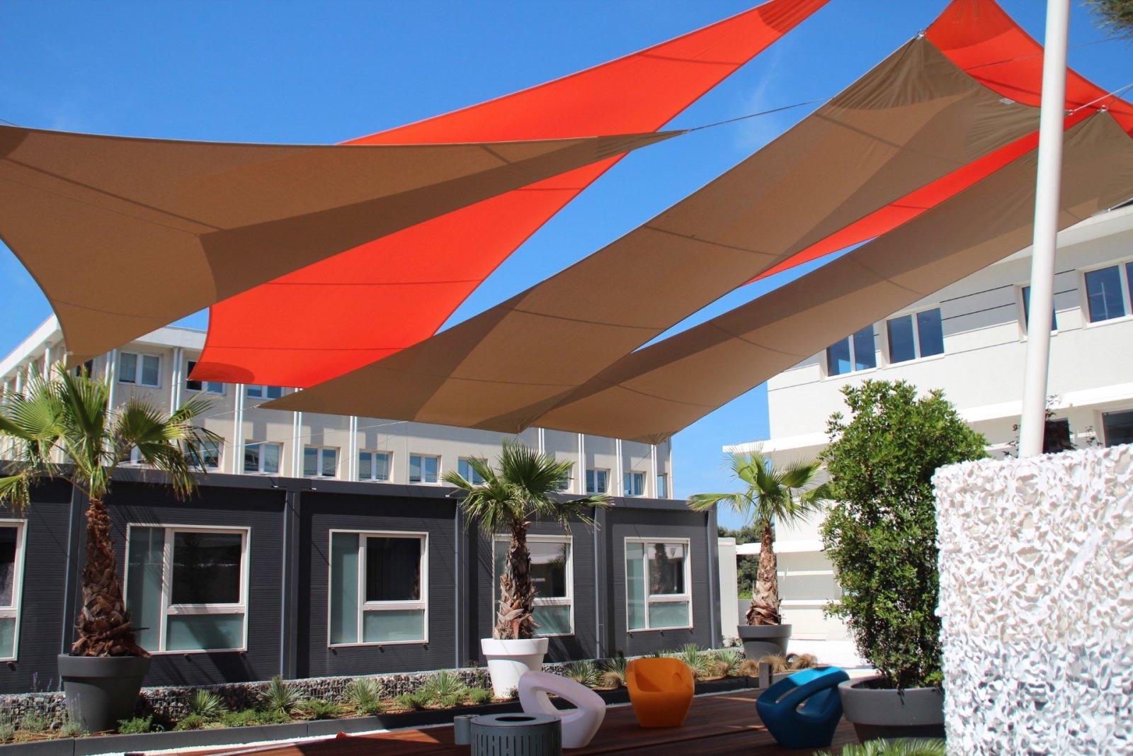 professional shade sails atelier des voiles. Black Bedroom Furniture Sets. Home Design Ideas